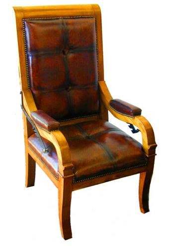A Handsome 19th Century French Louis-Philippe Pear Wood Recliner No. 1639