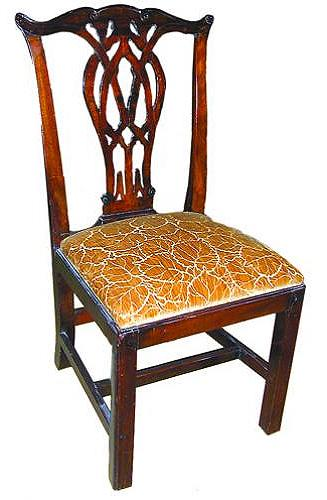 An 18th Century English Mahogany Chippendale Side Chair No. 411