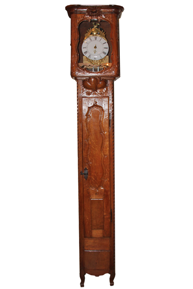 A 17th Century French Louis XIII Oak Long Case Clock No. 3955