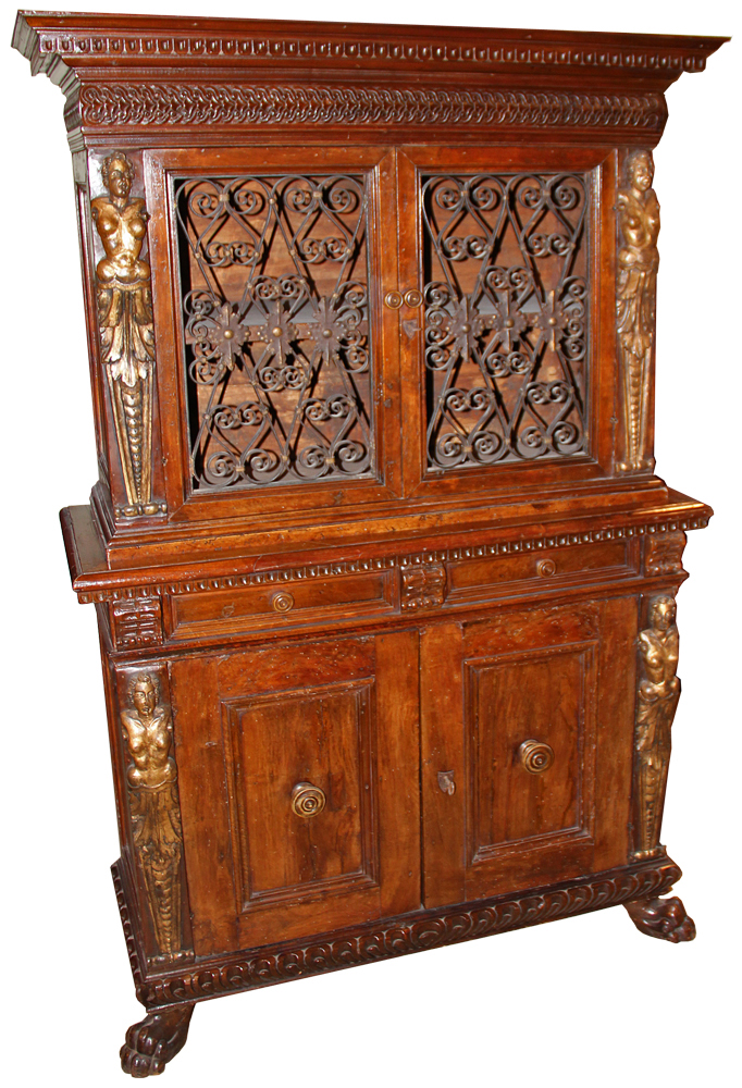 A 17th Century Italian Walnut Buffet a Deux Corps No. 4571