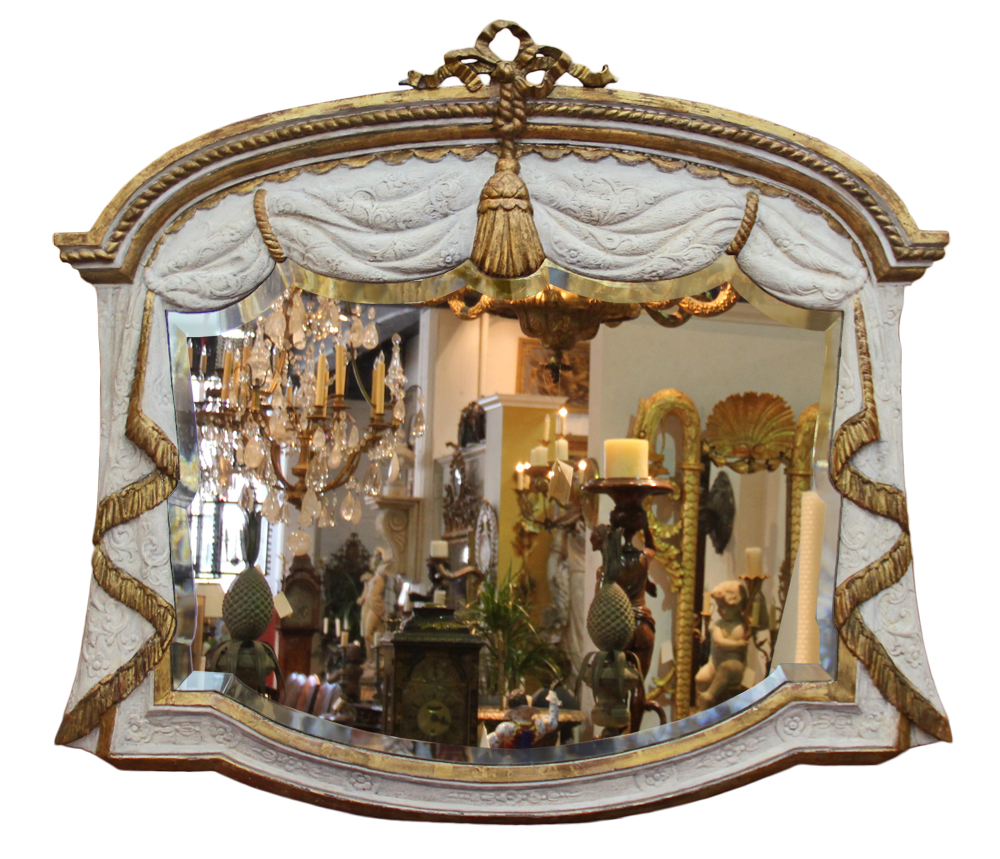 A Late 18th Century Italian Parcel-Gilt and Polychrome Mirror No. 4613