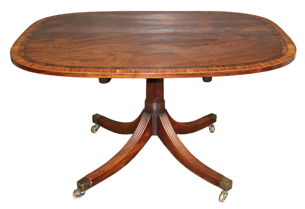 A 19th Century English Regency Mahogany Breakfast Tilt-Top Table No. 4626