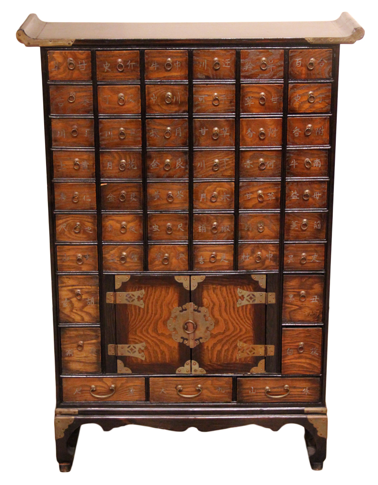 A 19th Century Korean Rosewood Apothecary Chest No. 4639