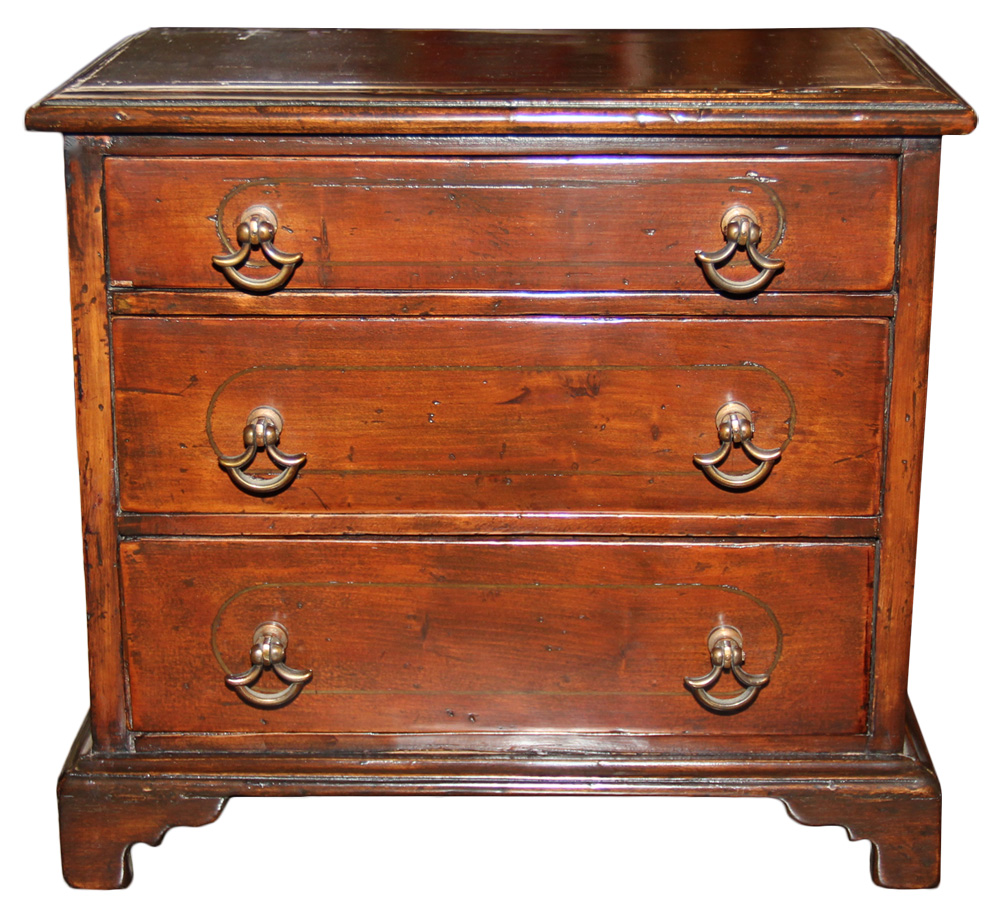 A Diminutive 19th Century English Cabinetmaker's Sample Mahogany Chest No. 98