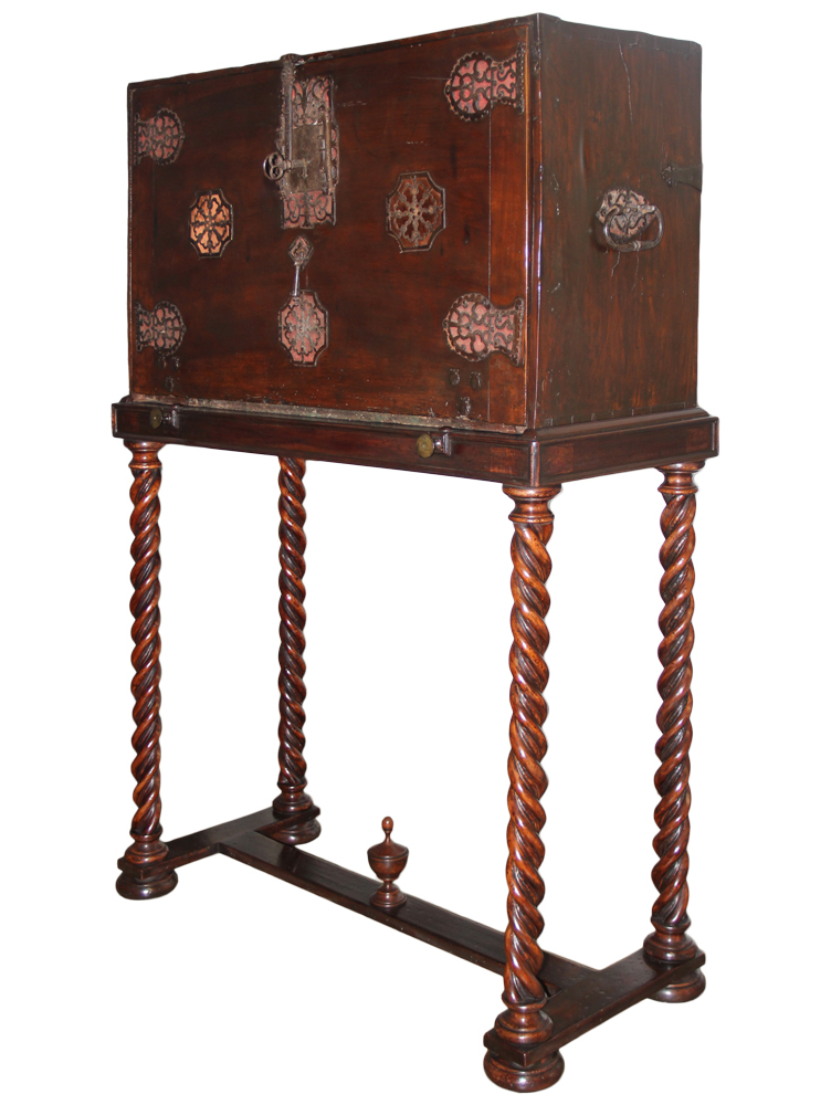 A 16th Century Spanish Walnut and Leather Vargueño No. 4654