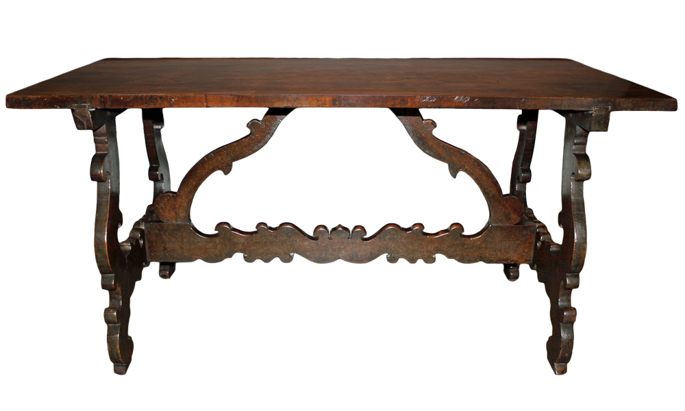 A Handsome 17th Century Tuscan Walnut Trestle Table No. 4660