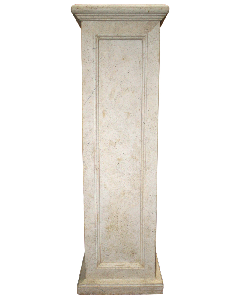 A 19th Century Italian Single Stone Pedestal No. 4688