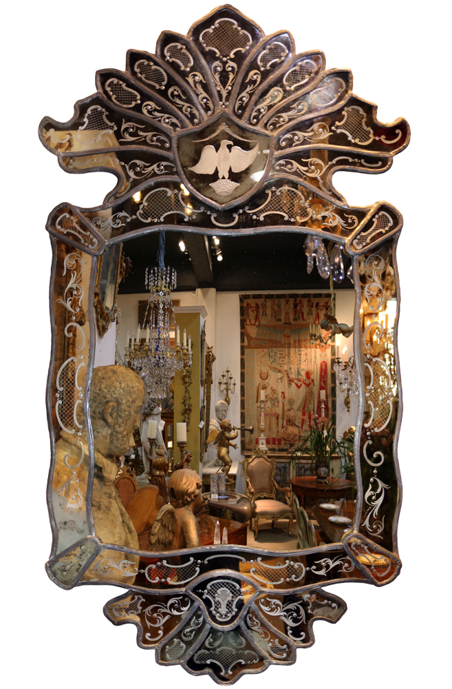 A Late 18th Century Venetian Mirror No. 4693