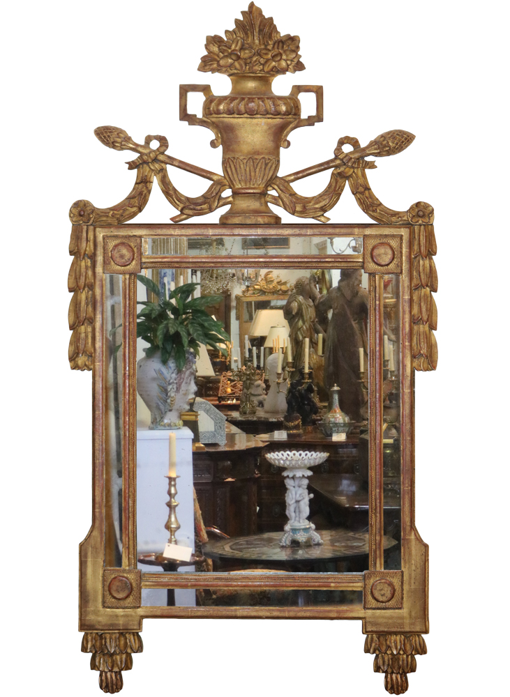 An 18th Century French Neoclassical Louis XVI Giltwood Mirror No. 4700