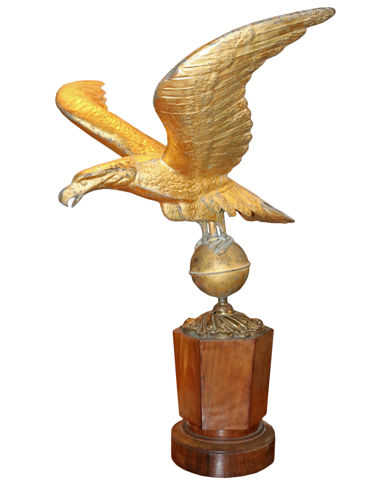 A 19th Century Gilt-Brass Eagle Repoussé No. 4193