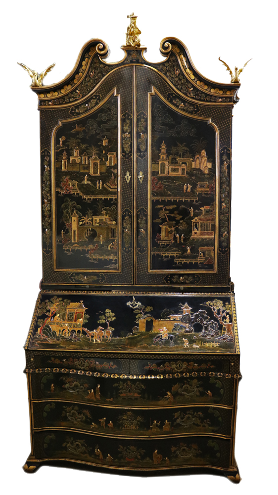 A Mid 18th Century Venetian Chinoiserie Secretaire No. 4723