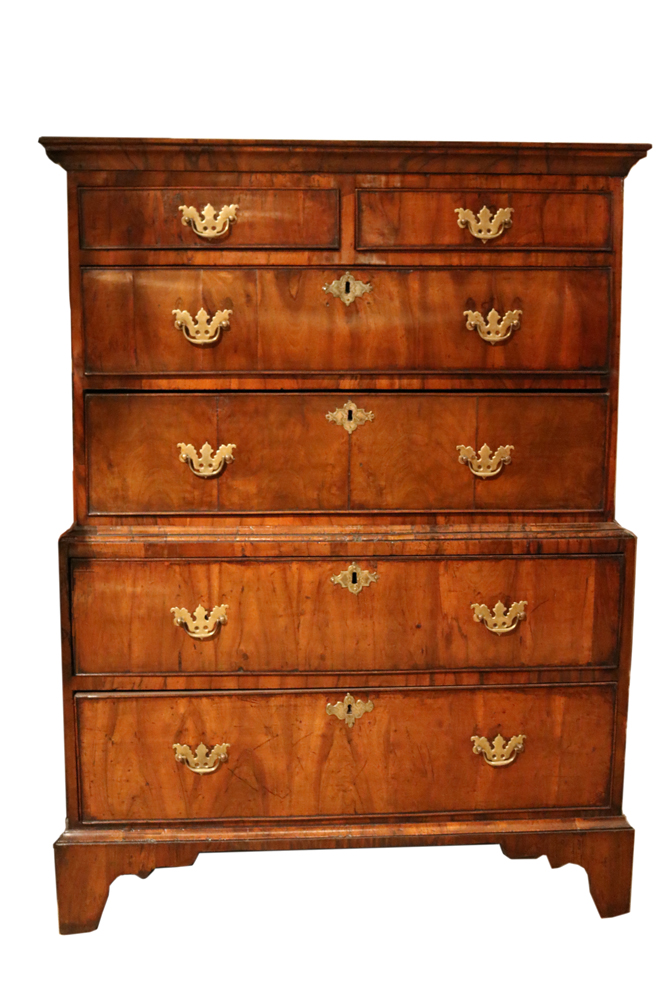 An 18th Century Queen Anne Walnut Chest on Chest No. 4731