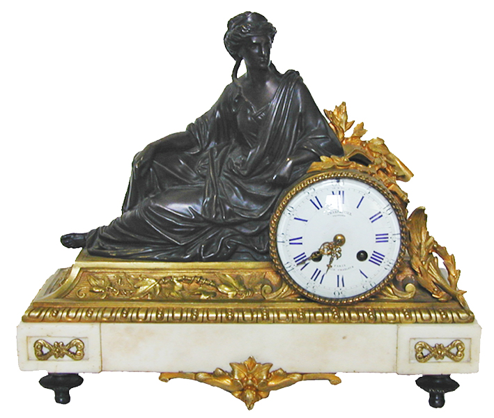 An Elaborate 19th Century Neoclassical French Mantel Clock No. 2101