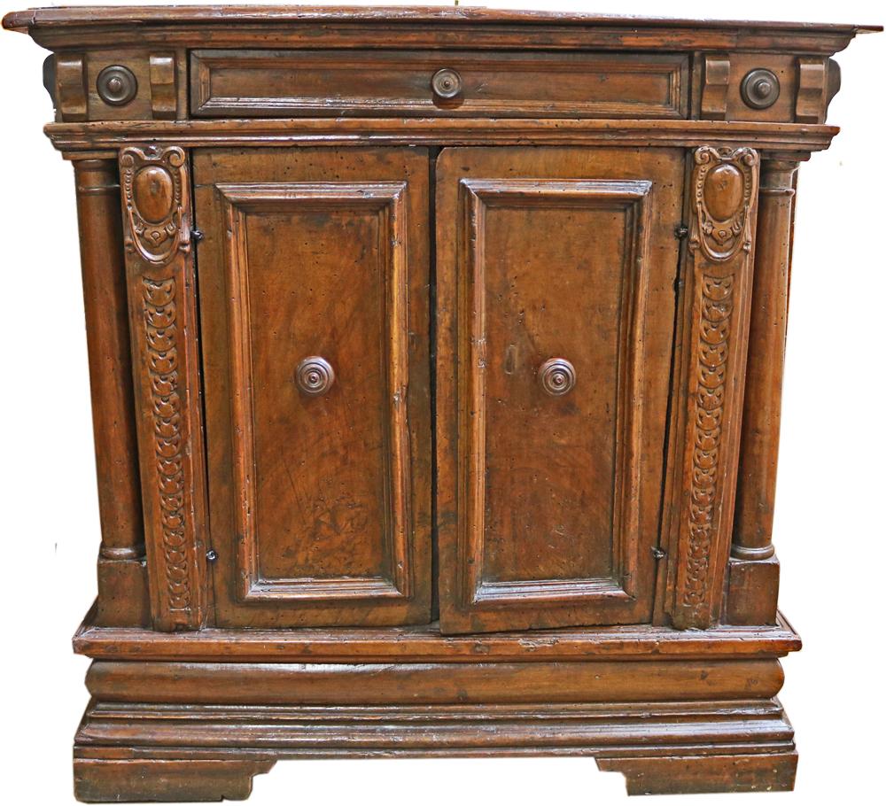 An 18th Century Italian Walnut Credenzina No. 4755