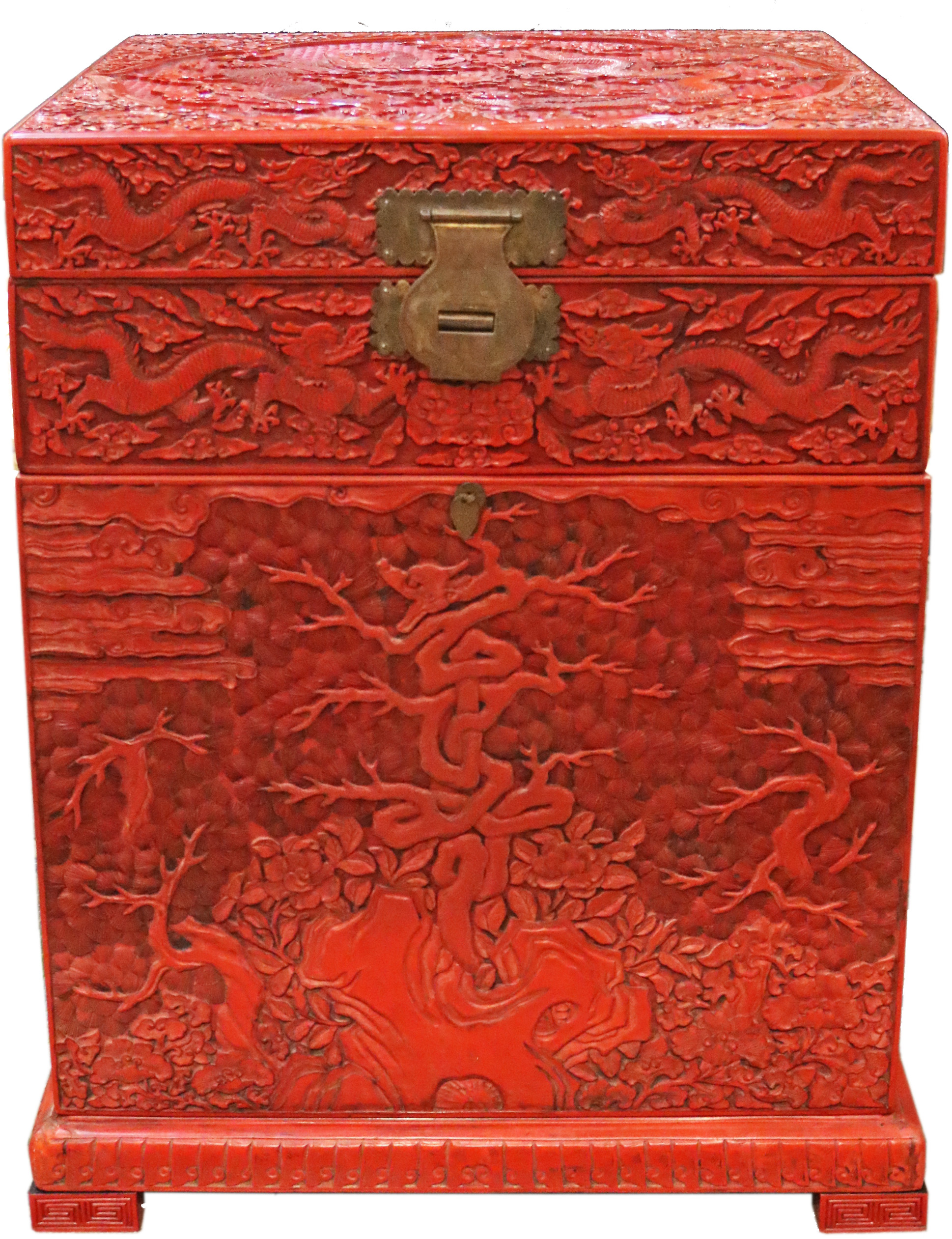 A Vibrant 19th Century Chinese Cinnabar Apothecary Chest No. 4769