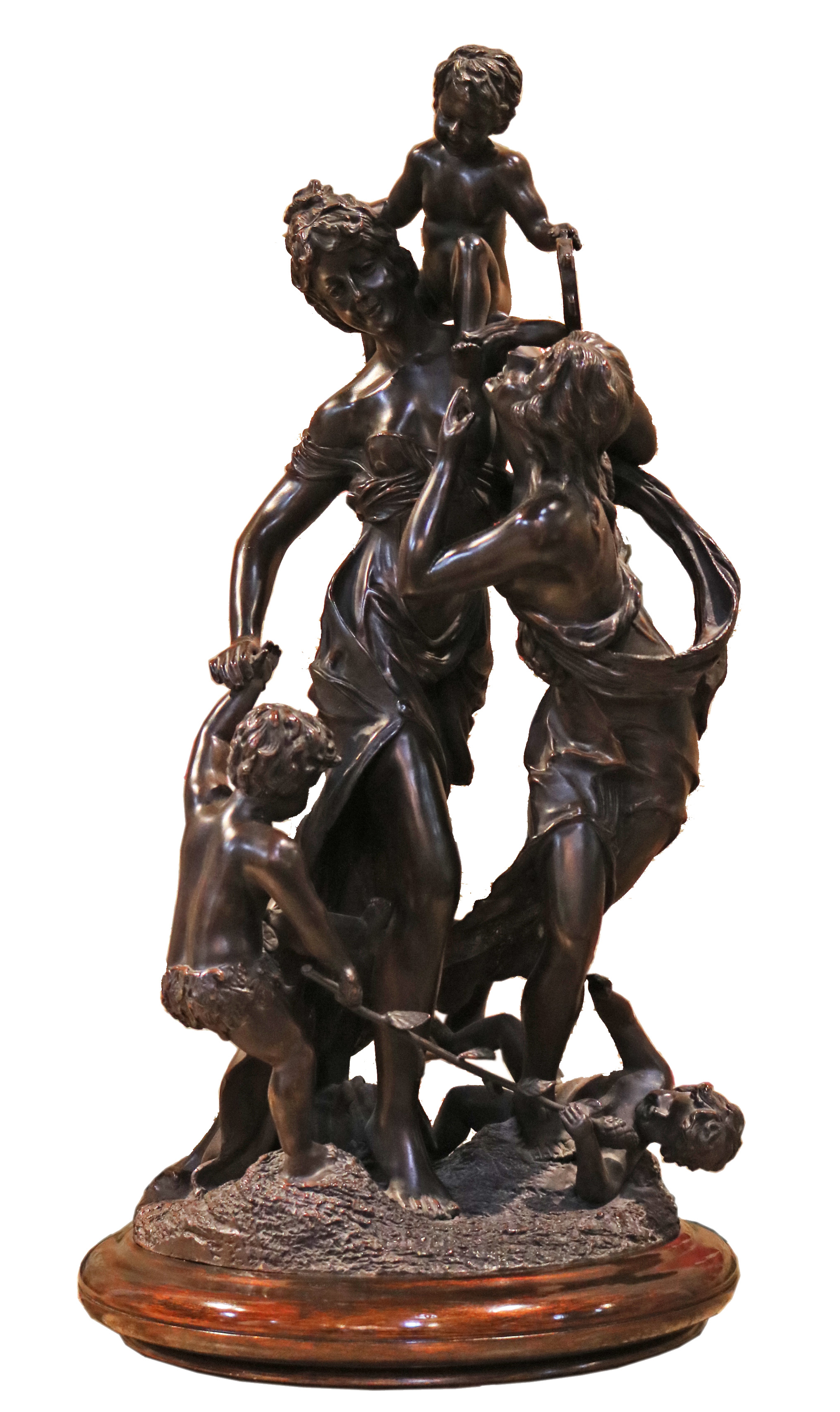 A Neoclassical 19th Century Bronze Sculpture No. 4770