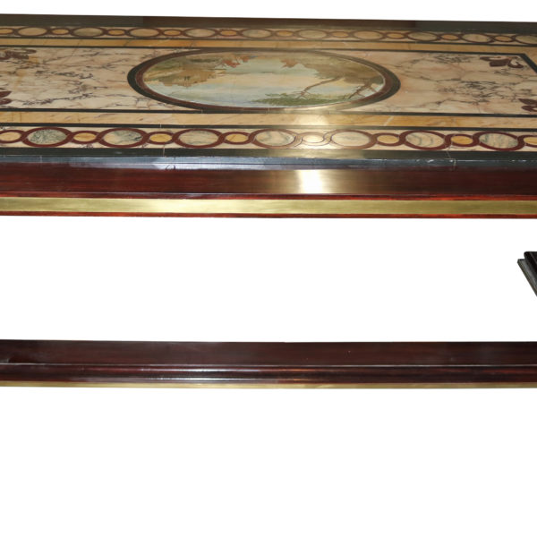A 19th Century Italian Inlaid Marble Top Table