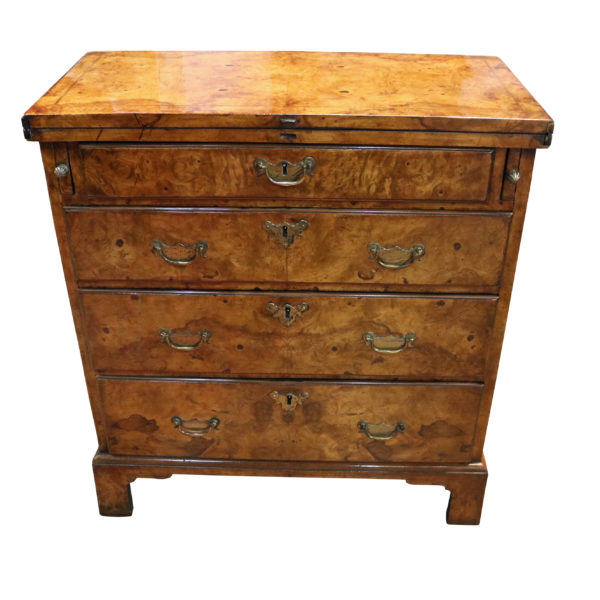 An 18th Century Burl Walnut Four-Drawer Bachelor's Chest No.4797