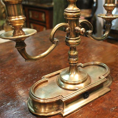 A Fine 19th Century Brass Bouillotte Lamp No. 908