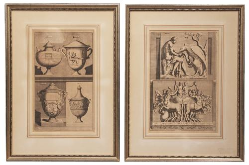 A Pair of 19th Century Italian Louis XVI Architectural Engravings No. 701