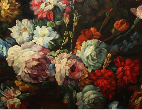 A 19th Century Oil on Canvas, Floral Still Life No. 558