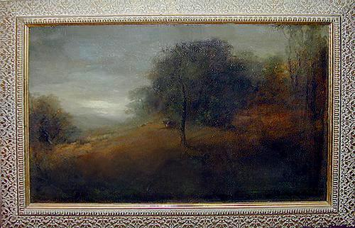 "The Signed Oil on Canvas, ""Oak on a Hill"", by Benigino Yamero Ruiz (b.1880, d.1929) No. 240"