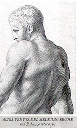 One of Twenty-One 18th Century Lithographs of Various Figural Sculptures No. 88