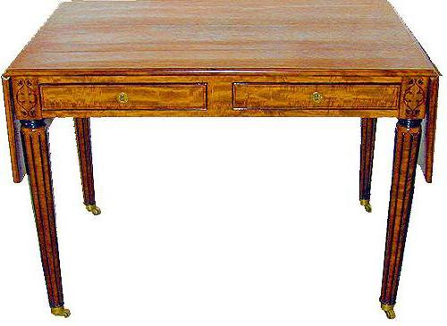 An Exquisite 19th Century Regency Satinwood Writing Desk No. 2141