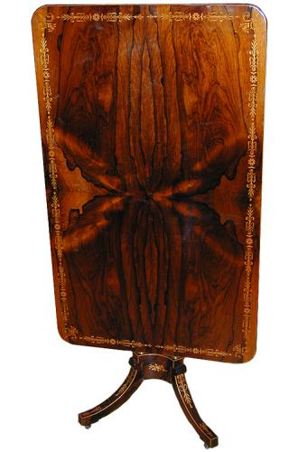 A Rare 19th Century English Regency Rosewood Tilt-Top Table No. 1762