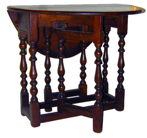 A Diminutive 18th Century English Oak Gate-Leg Table No. 1536