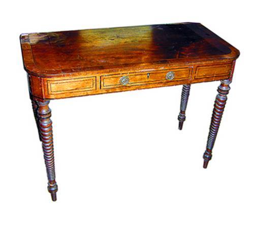 A 19th Century English Regency Mahogany Games Table No. 1241