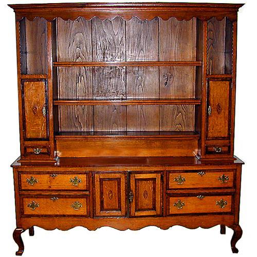 An 18th Century English Elmwood & Ash Wood Welsh Dresser No. 836