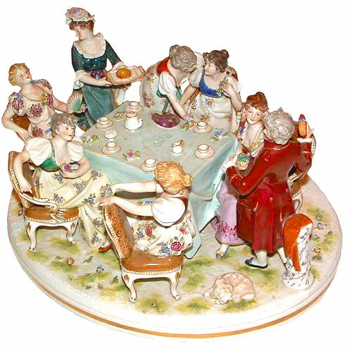 A 19th Century Porcelain Grouping in the Meissen manner No. 2645