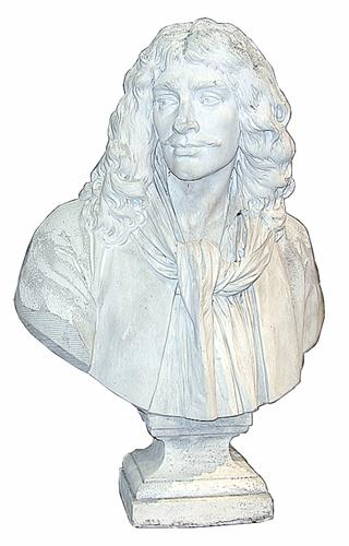 """Jean-Antoine Houdon's """"Bust of Moliere"""" No. 1159"""