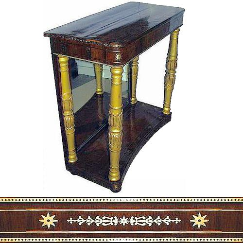 A First Quarter 19th Century French Empire Mahogany and Parcel-Gilt Pier Table No. 2376