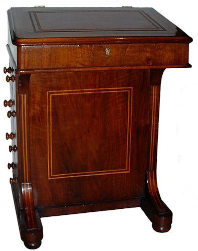A Classic 19th Century English Walnut Davenport No. 2658