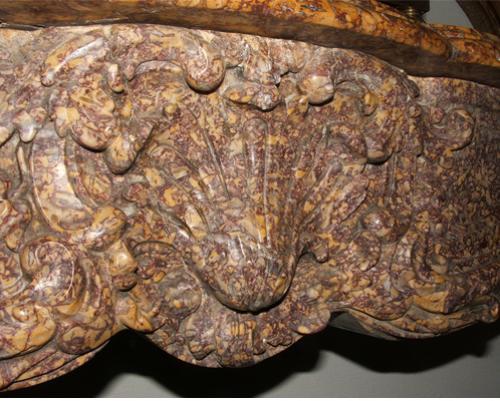 "An Italian ""Brocatello Di Spagna"" Carved Marble Mantel Surround No. 1466"