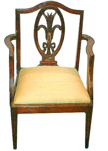 A Late 18th Century Hepplewhite Mahogany Child's Chair No. 2390