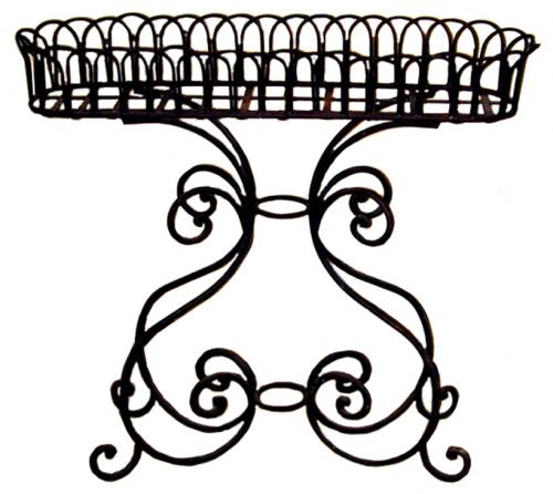 A Garden Hand-Forged Wrought-Iron Jardinière No. 1254