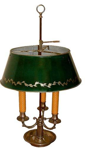 A 19th Century Silver-Plated Bouillotte Lamp No. 2767