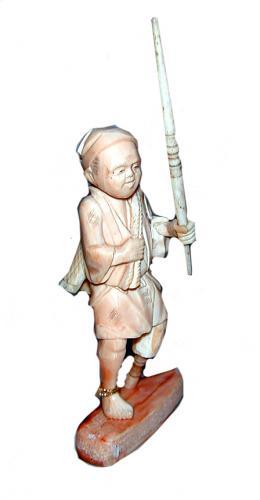 A 19th Century Miniature Oriental Carved Bone Figurine No. 1194