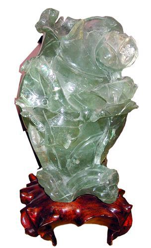 A 19th Century Chinese Translucent Quartz Urn No. 958