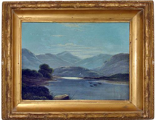 A 19th Century American Lake Landscape in Oil No. 197
