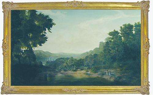 A 19th Century Oil on Canvas No. 659