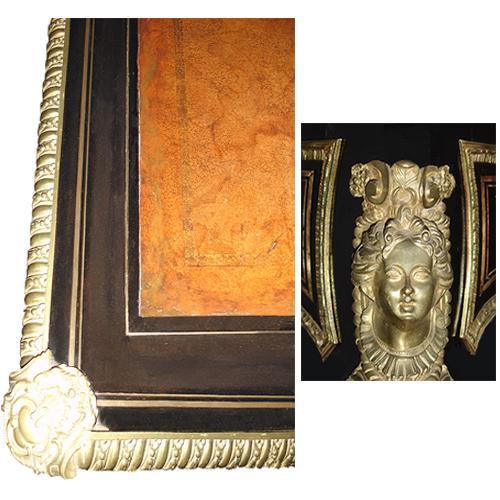 An Elegant French Louis XV Black Lacquered Bureau Plat No. 2882