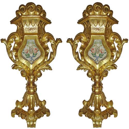 A Pair of Unusual 19th Century Italian Ecclesiastical Reliquaries No. 2935