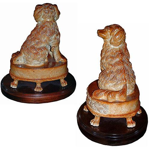 A Pair of English 19th Century Staffordshire Spaniels No.  2746