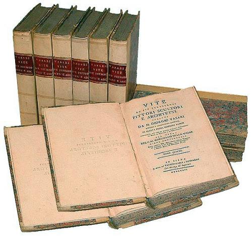 Ten 18th Century Volumes of Vasari's Lives of the Artists No. 2677