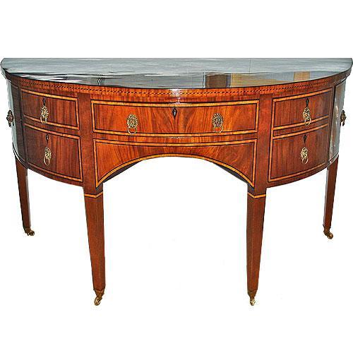 A 19th Century Demilune English Regency Mahogany Sideboard No. 248