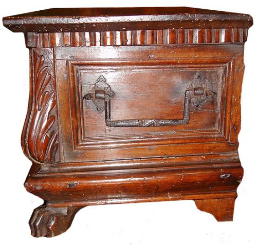 "An Italian 17th Century Baroque, Walnut ""Bible Box"" No. 3084"